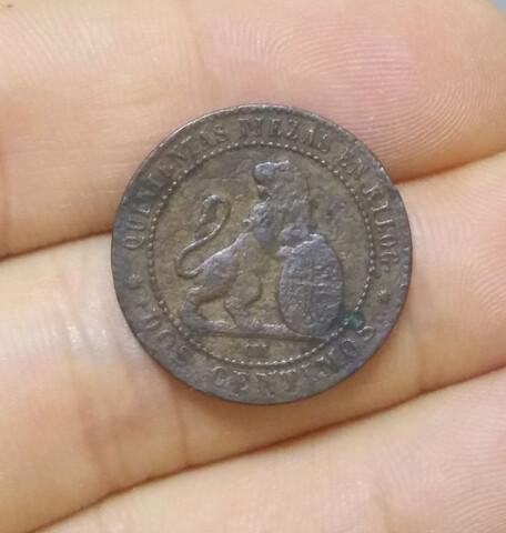 Moneda 2 Céntimos 1870 República
