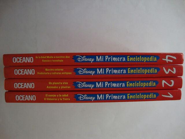 DISNEY MI PRIMERA ENCICLOPEDIA 4 TOMOS - foto 2