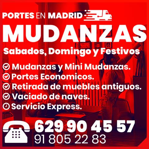 MUDANZAS EN MADRID Y PORTES CON ELEVADOR - foto 1