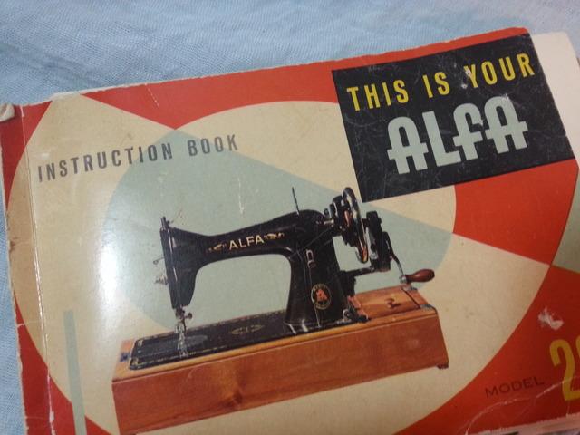 MIL ANUNCIOS.COM - Antiguo manual máquina alfa modelo 20