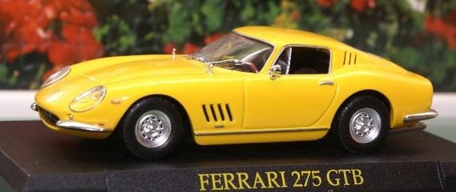 Ferrari 275 GTB amarillo con vitrina 1:43 Altaya