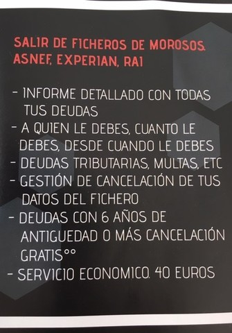 SALIR DE ASNEF.  ECONOMICO.  50 EUROS - foto 2