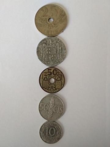 Monedas De Céntimos Españoles 1927-1966