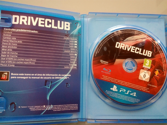 JUEGO DRIVECLUB PS4