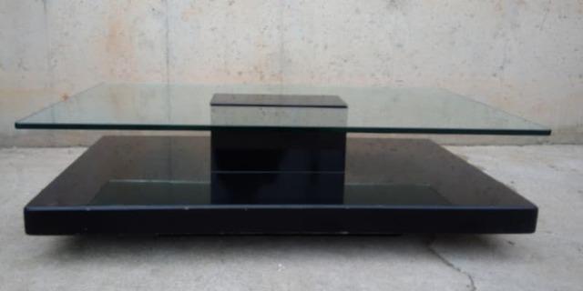 Mesa Auxiliar Cristal Y Madera 120x70cm