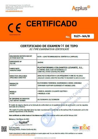 ANDAMIOS COLGANTES ELECTRICOS 6 MTS - foto 9