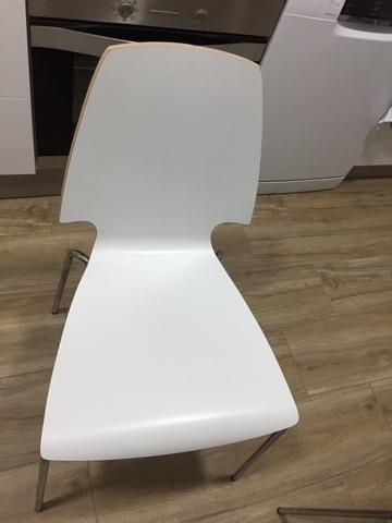 SEIS SILLAS IKEA BLANCAS COMEDOR