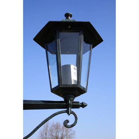 Farola de Jard/ín Verde Oscuro,Farolas Solares de Aluminio y Vidrio Transparente 215 cm