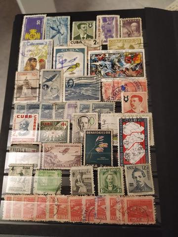 Sellos Antiguos Usados De Cuba