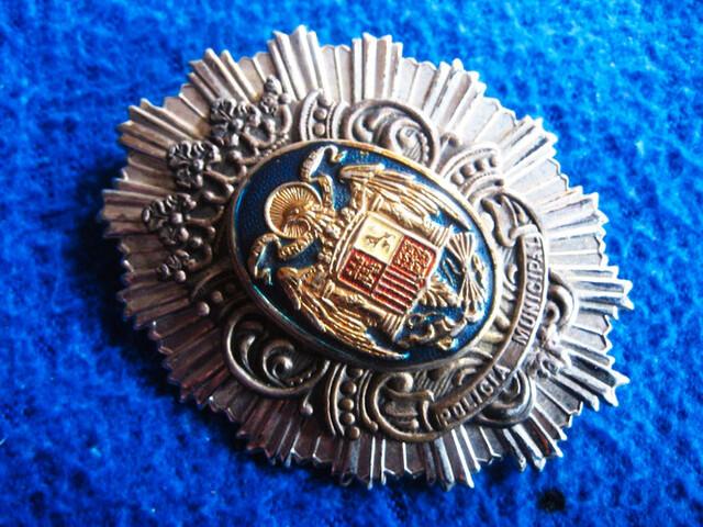 Placa Policía Municipal Época De Franco