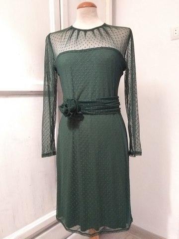 Vestido Verde Botella