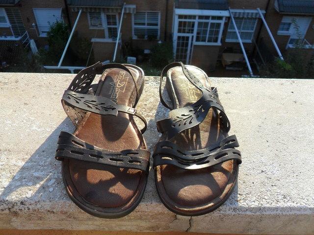 41 Shoes Marrón D Dilav Piel De Sandalia kwulOZTPXi