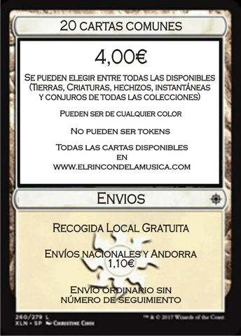 Lote 200 Cartas Comunes//Infrecuentes AZULES