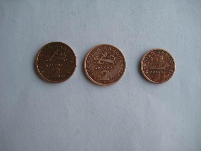 Vendo 3 Monedas De Grecia.
