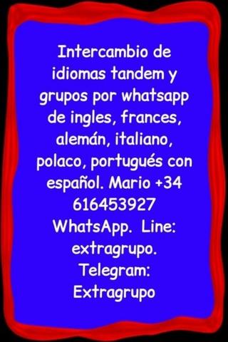 ESPAÑOL INGLÉS,  INTERCAMBIO DE IDIOMAS - foto 3