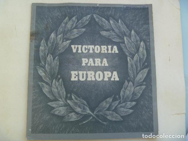 Libro Antiguo Victoria Para Europa