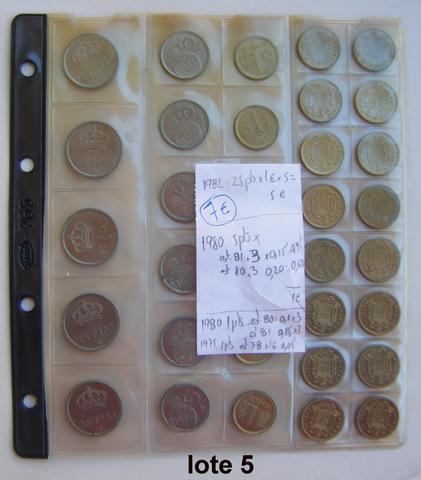Lote 5 - Monedas 1975-1980 Juan Carlos I