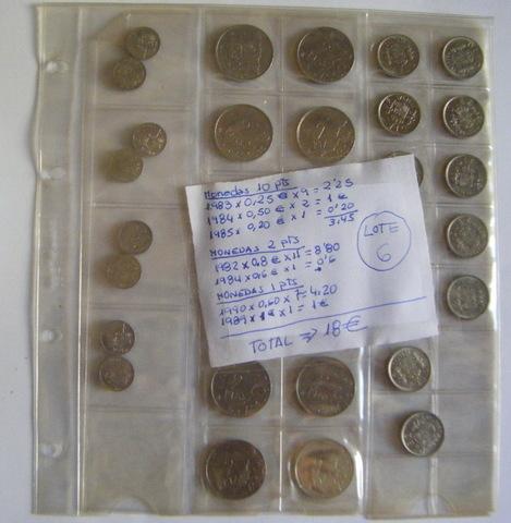 Lote Nº 6  - Monedas 1982 A 1989