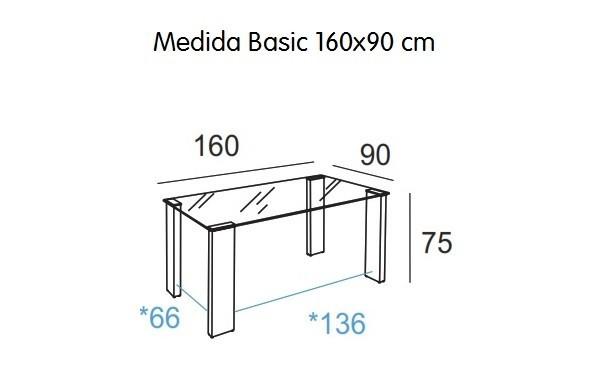 MESA DE CRISTAL BASIC 160X90 CM - foto 5