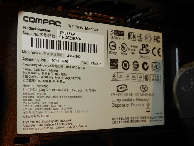 COMPAQ WF1909V - foto 4