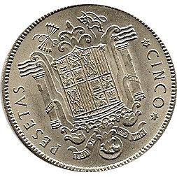 Moneda 5 Ptas 1949. 19/50