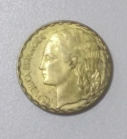 Moneda 1 Peseta 1937 Republica