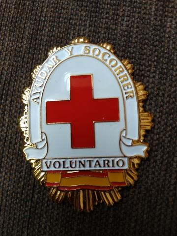 Placa Voluntario Cruz Roja.