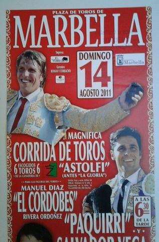 Cartel De Toros De Marbella 2011.