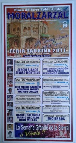 Cartel De Toros De Moralzarzal 2011.