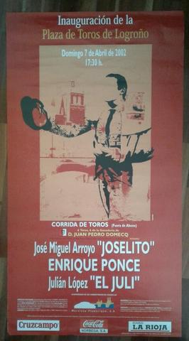 Cartel De Toros De Logroño  2002.