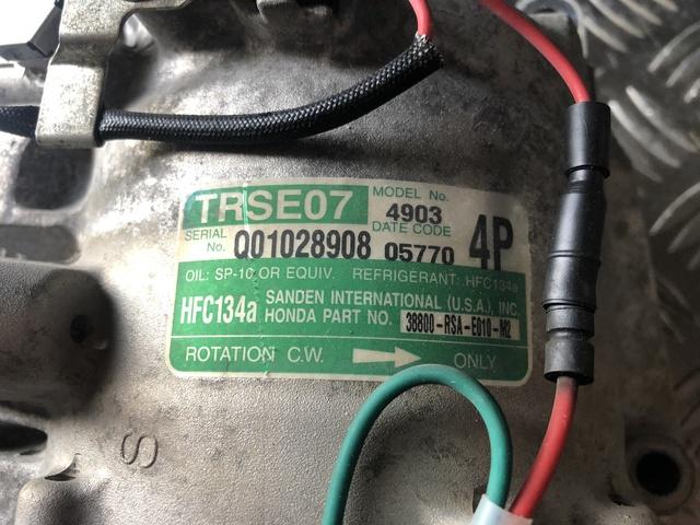 Compresor de embrague solenoide adecuado para Honda Jazz II 1,2//1,3 Sanden