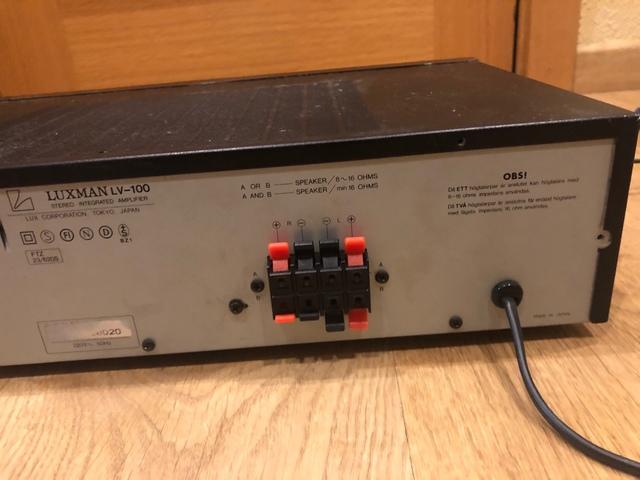 AMPLIFICADOR LUXMAN LV-100 - foto 6