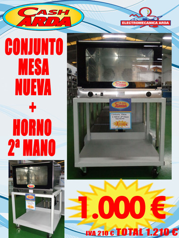 CONJUNTO MESA + HORNO EN OFERTA - foto 1