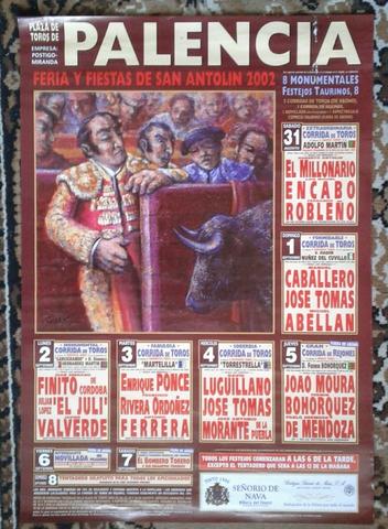 Cartel De Toros De Palencia  2002.