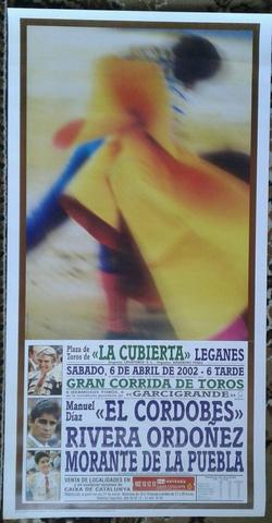 Cartel De Toros  De Leganes 2002.