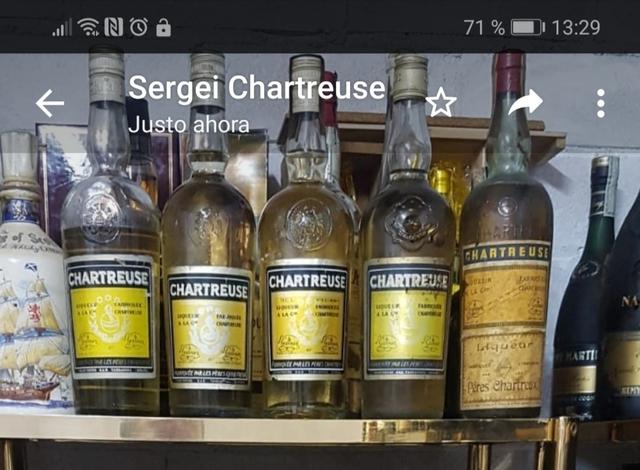 Compro Sus Botellas Antiguas,Chartreuse
