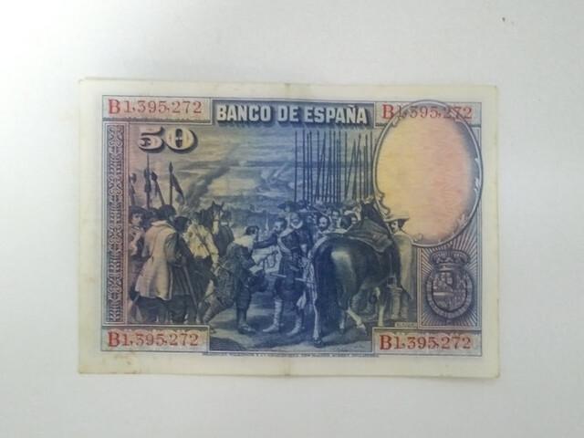 Billete 50 Pesetas 1928 Velazquez