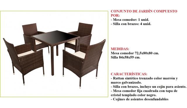 6ea02255ccc2 COM - Conjunto mesas y sillas jardin Segunda mano y anuncios clasificados