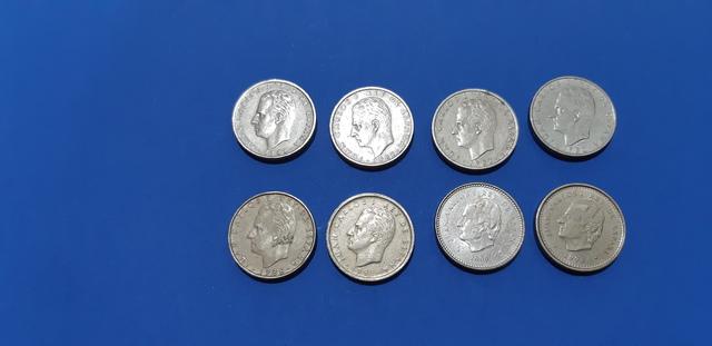8 Monedas De 100 Pts 82 86 92 98 Y 2000