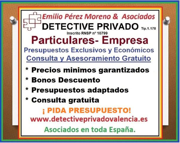 DETECTIVES EN GANDIA Y RESTO C.  VALENCIA - foto 1