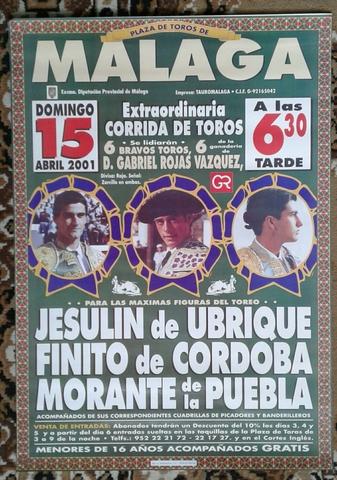 Cartel De Toros De Málaga, 2001.