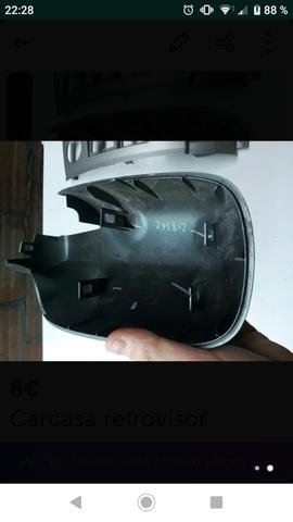 Cristal espejo convexo cromo izquierda o derecho para Renault Megane ba0//1 berlina
