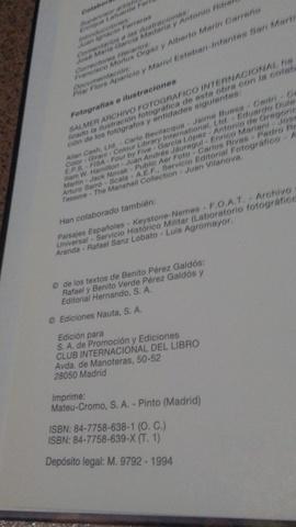 EPISODIOS NACIONALES.  BENITO PÉREZ GALDÓ - foto 8