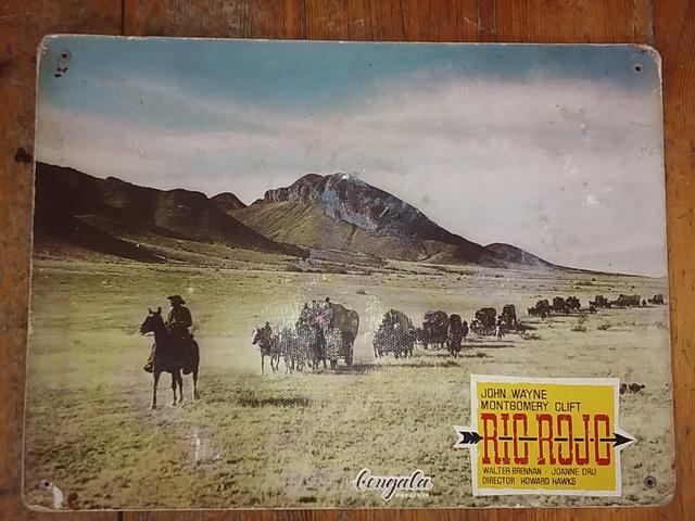 Cartel De Cine Antiguo Rio Rojo