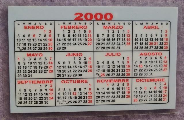 CALENDARIO AÑO 2000,  TALLER MECÁNICO - foto 1