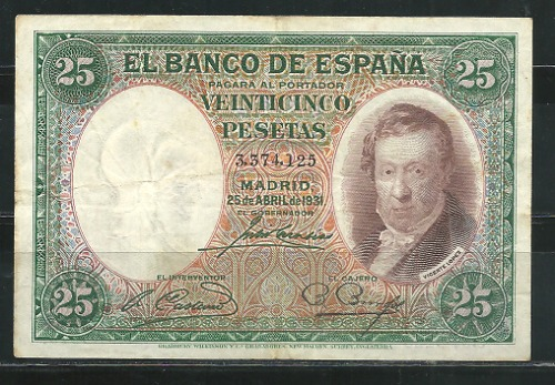 Billete 25 Pesetas