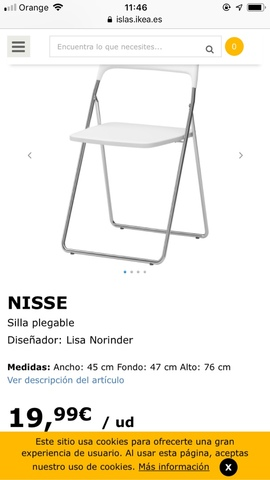 Y Ikea com Sillas Clasificados Anuncios Anuncios Mil Mano Segunda IbgYf6m7vy