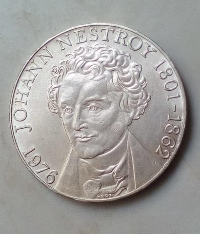 Moneda Plata 100 Chelines 1976 Austria