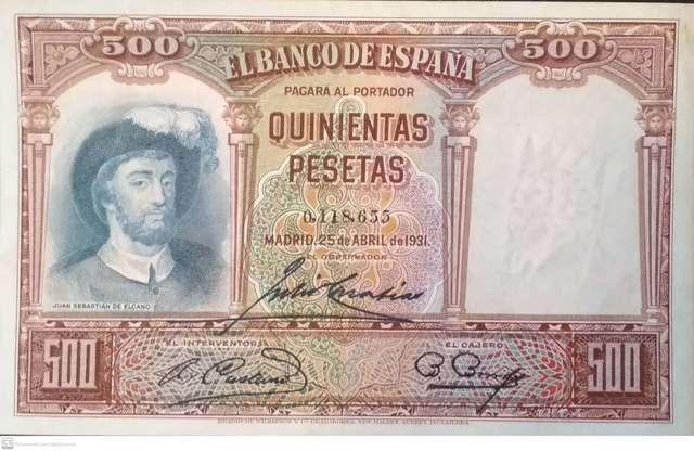 500 1931 Nºbajisimo, Sin Circular-