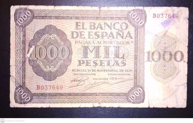 1000 Pts 1936 Burgos, Muy Raro